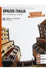 Spazio Italia: Libro Dello Studente Manuale = Eserciziario E DVD-Rom 2 (A2)